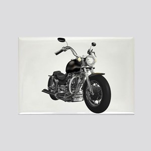 BLACK MOTORCYCLE Rectangle Magnet