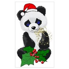 Christmas Panda Wall Art Poster