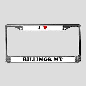I Love Billings License Plate Frame
