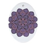 Purple stain glass inspired d Ornament (Oval)