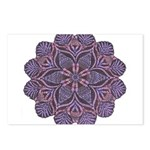 Purple stain glass inspired d Postcards (Package o