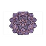 Purple stain glass inspired d 38.5 x 24.5 Wall Pee