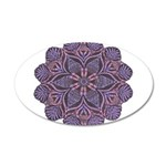 Purple stain glass inspired d 22x14 Oval Wall Peel