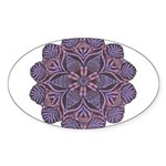 Purple stain glass inspired d Sticker (Oval)