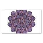 Purple stain glass inspired d Sticker (Rectangle)