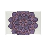 Purple stain glass inspired d Rectangle Magnet