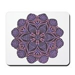 Purple stain glass inspired d Mousepad
