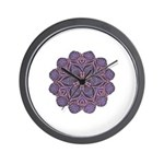 Purple stain glass inspired d Wall Clock