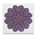 Purple stain glass inspired d Tile Coaster