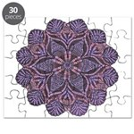 Purple stain glass inspired d Puzzle