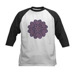 Purple stain glass inspired d Kids Baseball Jersey