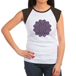 Purple stain glass inspired d Women's Cap Sleeve T