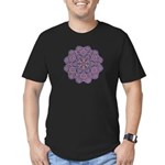 Purple stain glass inspired d Men's Fitted T-Shirt