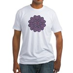 Purple stain glass inspired d Fitted T-Shirt