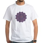 Purple stain glass inspired d White T-Shirt
