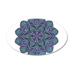 Blue stain glass and lace ins 22x14 Oval Wall Peel