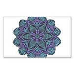 Blue stain glass and lace ins Sticker (Rectangle 5