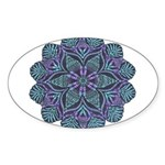 Blue stain glass and lace ins Sticker (Oval 10 pk)