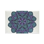 Blue stain glass and lace ins Rectangle Magnet