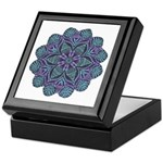 Blue stain glass and lace ins Keepsake Box