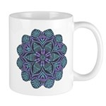 Blue stain glass and lace ins Mug