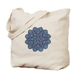 Blue stain glass and lace ins Tote Bag