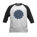 Blue stain glass and lace ins Kids Baseball Jersey