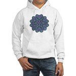 Blue stain glass and lace ins Hooded Sweatshirt