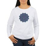 Blue stain glass and lace ins Women's Long Sleeve