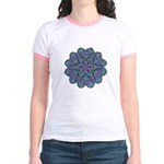 Blue stain glass and lace ins Jr. Ringer T-Shirt
