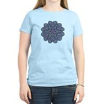 Blue stain glass and lace ins Women's Light T-Shir