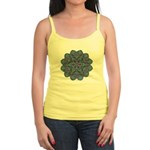 Blue stain glass and lace ins Jr. Spaghetti Tank