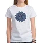 Blue stain glass and lace ins Women's T-Shirt