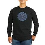 Blue stain glass and lace ins Long Sleeve Dark T-S