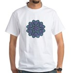 Blue stain glass and lace ins White T-Shirt