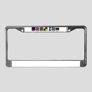 Nautical England License Plate Frame