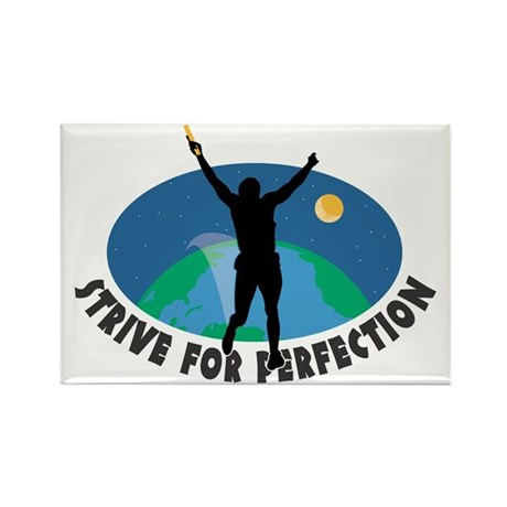 Strive for Perfection Rectangle Magnet