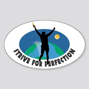 Strive for Perfection Oval Sticker