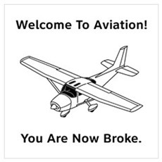 Aviation Broke Style B Wall Art Poster