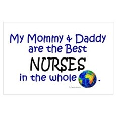 Best Nurses In The World Wall Art Poster