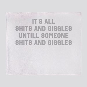 Shits and Giggles Throw Blanket