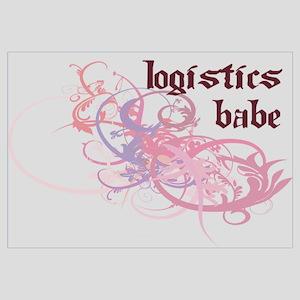 Logistics Babe Wall Art