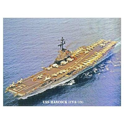 USS HANCOCK Wall Art Poster