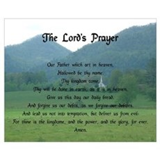 Lord's Prayer at Wolf Fork Valley Wall Art Poster