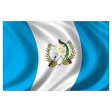 Flag of Guatemala Wall Art Poster