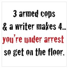 3 Armed Cops and a Writer... Wall Art Canvas Art