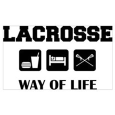 Eat Sleep Lacrosse Wall Art Poster