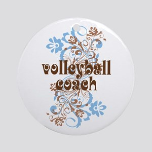 Volleyball Coach Pretty Gift Ornament (Round)