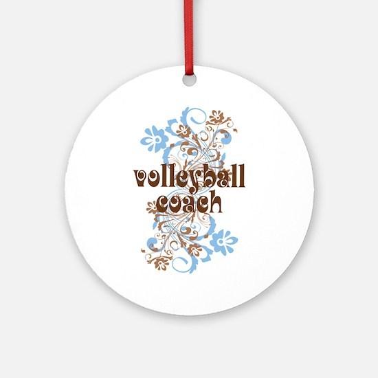 Volleyball Coach Pretty Gift Ornament (Round)