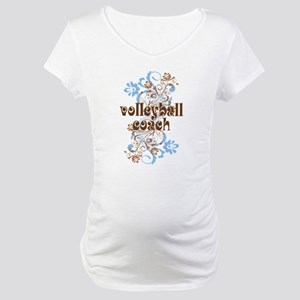 Volleyball Coach Pretty Gift Maternity T-Shirt